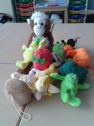 Jaap aap met andere beren