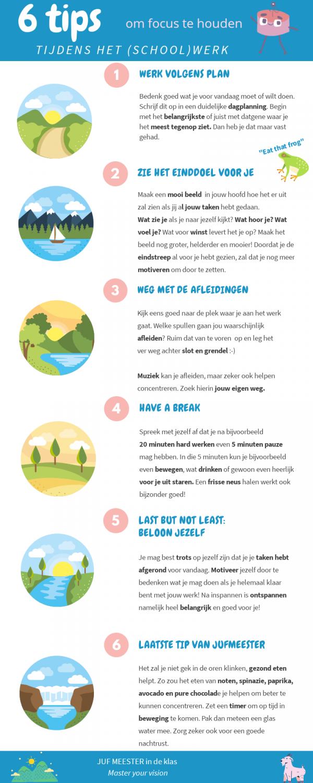 6 tips om focus te houden